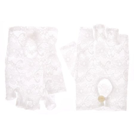 Fingerless Lace Gloves - White | Claire's US