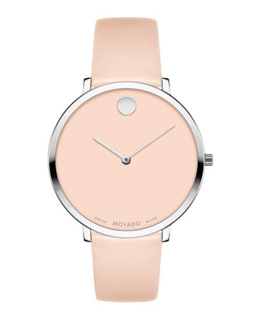 Movado Ultra Slim Leather Watch