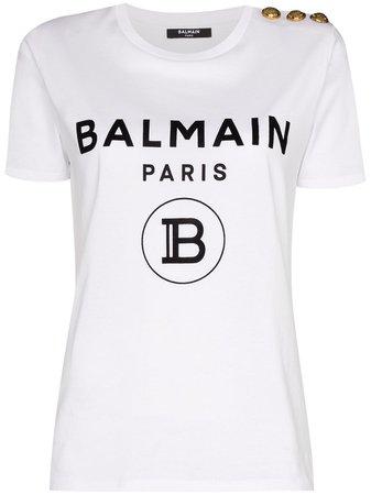 Balmain logo-print T-shirt - Farfetch