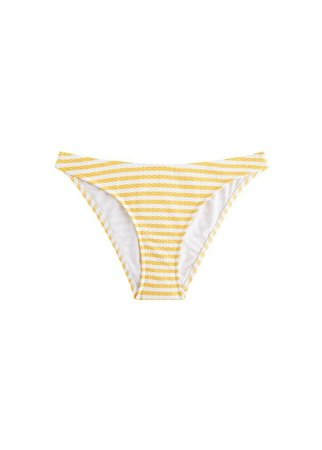 MANGO Striped bikini bottom