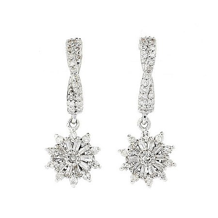 Diamond Treasures® Sterling Silver Diamond Star, Sun or Heart Drop Earrings - ShopHQ