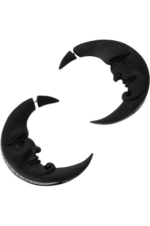 Crescent Moon Earrings [B] | KILLSTAR - UK Store