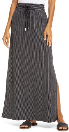 Drawstring Knit Maxi Skirt
