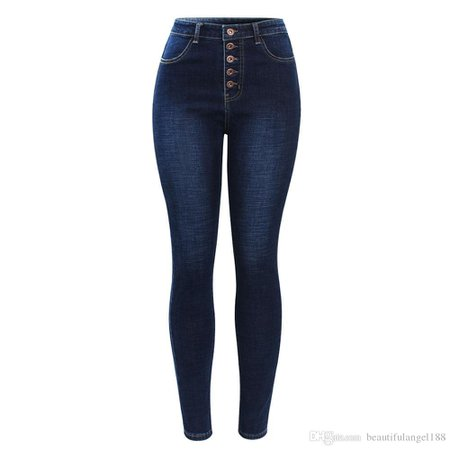 dark blue high-waisted jeans