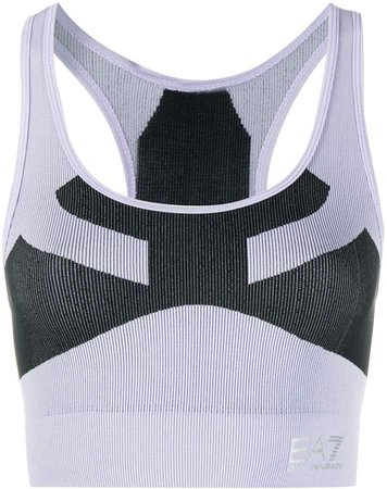 Panelled Ribbed Knit Tank Top