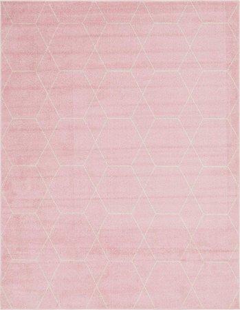 Amazon.com: Unique Loom Trellis Frieze Collection Modern Transitional Pink Home Décor Area Rug (8' x 10'): Kitchen & Dining