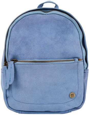 MAHI Leather - Mini Backpack In Pastel Blue Suede Leather