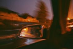 car ride aesthetic sunset