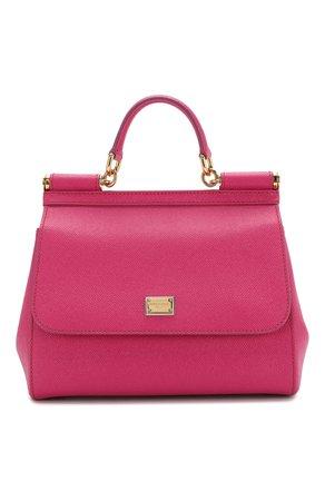 Женская сумка sicily medium DOLCE & GABBANA фуксия цвета — купить за 82750 руб. в интернет-магазине ЦУМ, арт. 0116/BB6002/A1001
