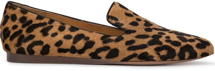 Griffin leopard print loafers
