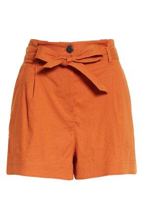 rag & bone River Tie Waist Linen Shorts | Nordstrom
