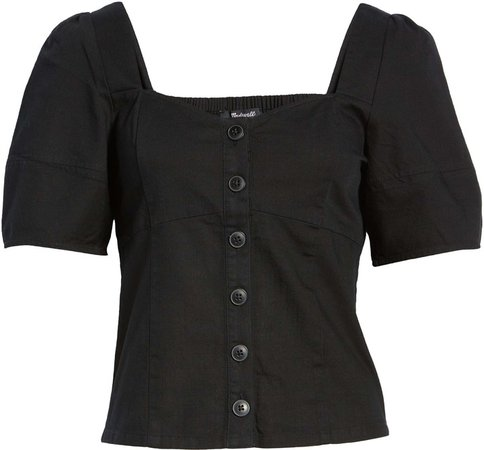 Button Front Bodice Top