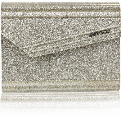 Candy Glitter Acrylic Clutch - Silver