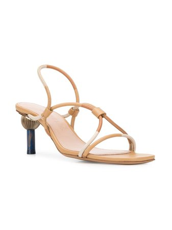 Jacquemus two-tone strap sandals $497 - Shop SS19 Online - Fast Delivery, Price