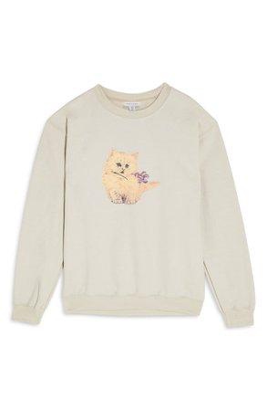 Topshop Kitten Graphic Sweatshirt | Nordstrom