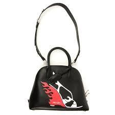 Prada Embroidered Flame Shoe Shoulder Bag