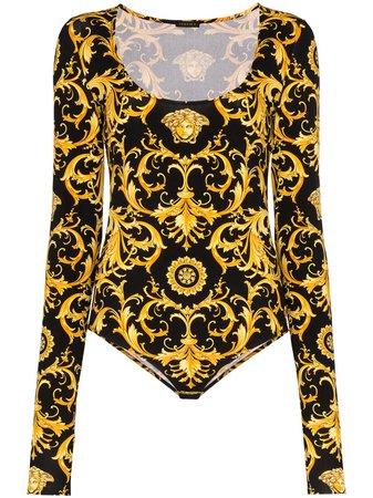 Versace Baroque-Print Bodysuit Ss20   Farfetch.com