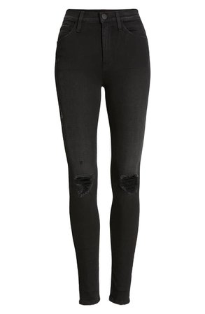 Hudson Jeans Barbara Ripped High Waist Super Skinny Jeans (Westbound) | Nordstrom