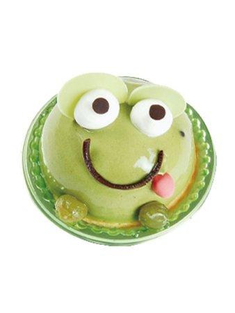 matcha frog dessert