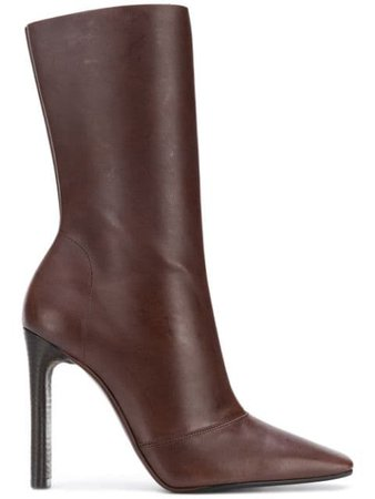 Yeezy Season 7 Square Toe Boots YZ6080084000 Brown | Farfetch