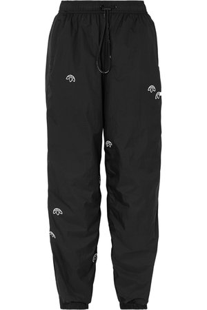 Adidas Originals By Alexander Wang | Appliquéd shell track pants | NET-A-PORTER.COM