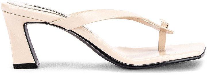 Flip Flop Heel in Cream | FWRD