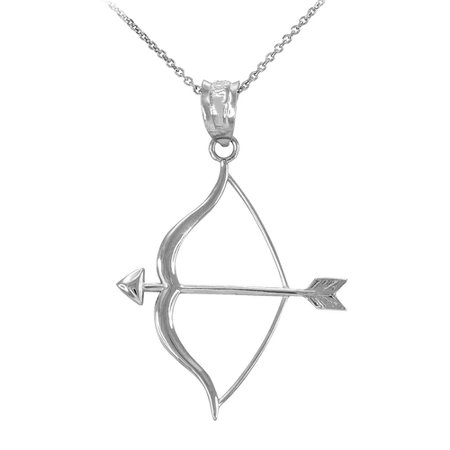 bow and arrow silver necklace