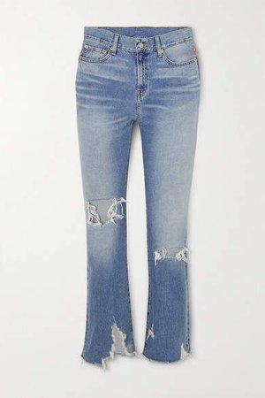 Denimist - Joni Distressed Mid-rise Slim-leg Jeans - Mid denim