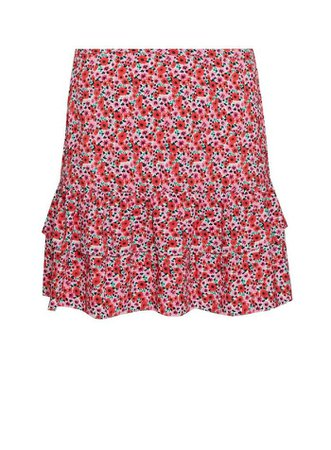 Red Mini Skirt With Recycled Polyester | Miss Selfridge