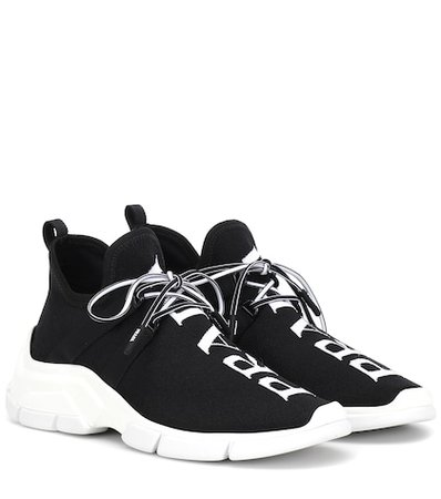 Stretch-knit sneakers