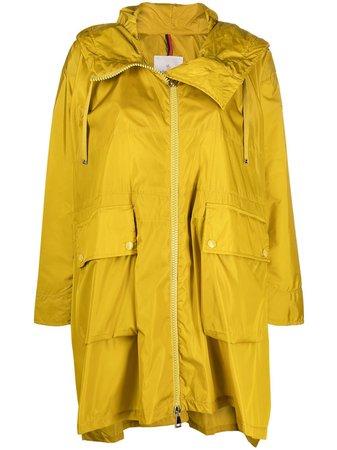 Moncler high-low rain coat - FARFETCH