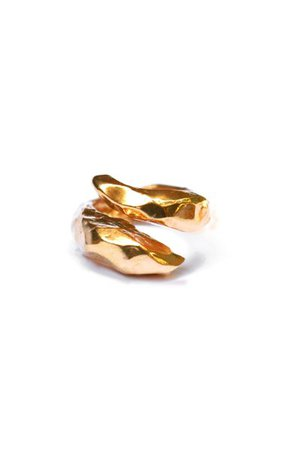 Richie Gold-Plated Twist Ring By Reggie | Moda Operandi