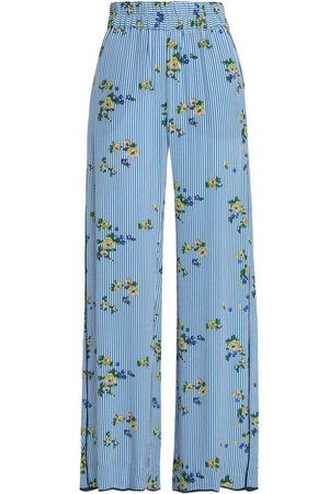 Printed crepe wide-leg pants | BAUM UND PFERDGARTEN | Sale up to 70% off | THE OUTNET