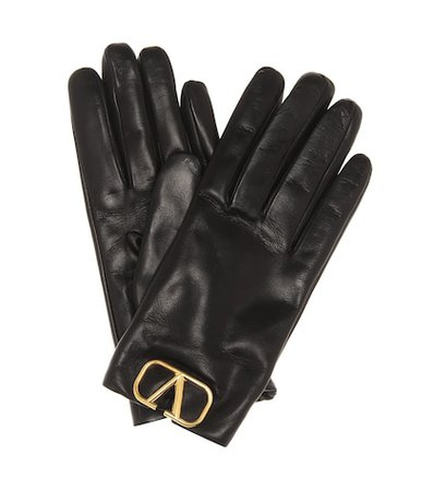 Valentino Garavani VLOGO leather gloves
