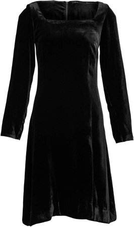 Deitas Nyx Square-Neck Velvet Midi Dress