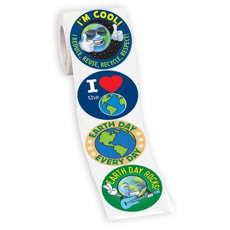 200 Earth Day 4-On-A Roll Stickers   Positive Promotions