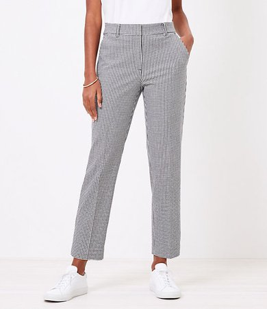The High Waist Straight Pant in Gingham