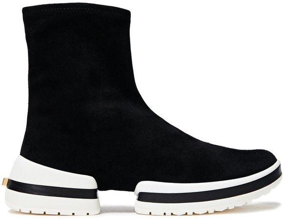 Stretch-suede High-top Sneakers