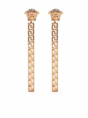 Versace Greca drop earrings - FARFETCH
