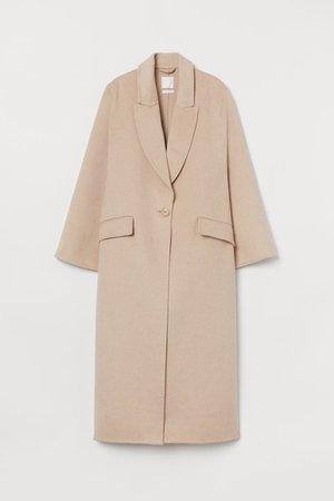 Oversized Wool-blend Coat - Beige - Ladies | H&M US
