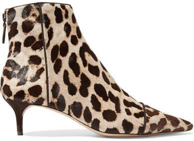 Kittie Leopard-print Calf Hair Ankle Boots - Leopard print