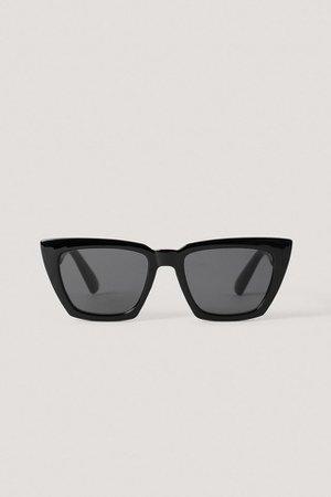 Basic Squared Sunglasses Black | na-kd.com