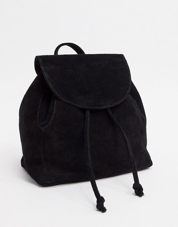 ASOS DESIGN mini backpack in black suede | ASOS