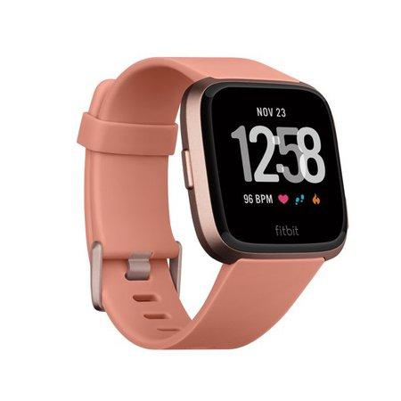 pink Fitbit Versa Smartwatch - Walmart.com - Walmart.com
