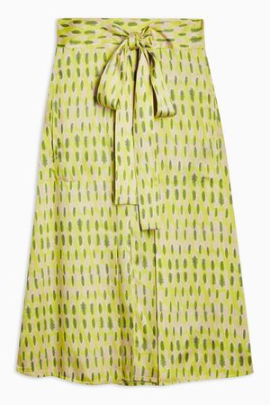**Printed Apron Skirt by Boutique | Topshop green