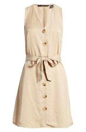 VERO MODA Viviana Sleeveless Tie Waist Dress | Nordstrom