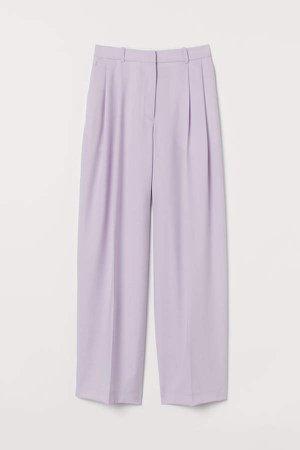 Wide-leg Suit Pants - Purple