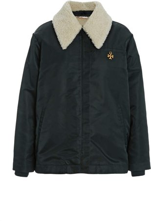 Tory Burch Coach Shearling-Trimmed Jacket