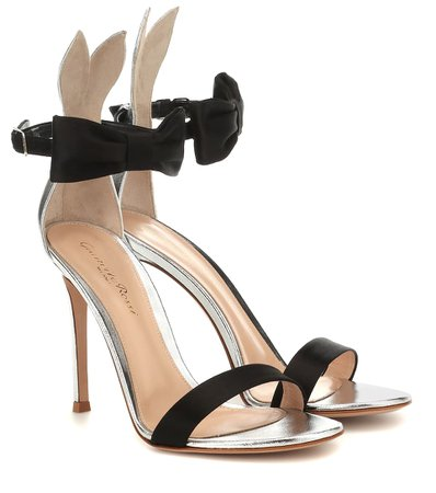 GIANVITO ROSSI Leather and satin sandals