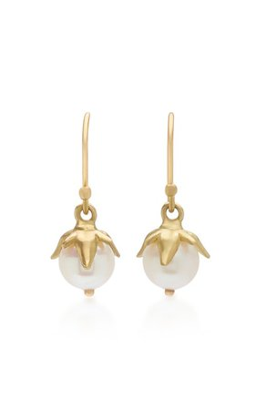 18K Gold And Pearl Earrings by Annette Ferdinandsen | Moda Operandi